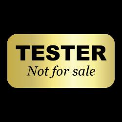 Tester, Not for sale Gold Foil Labels