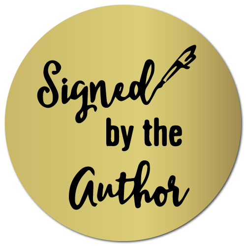 1.25 Inch Circle Signed by the Author Gold Labels