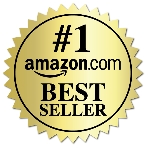 2 Inch Burst Amazon Best Seller Book Award Gold Stickers