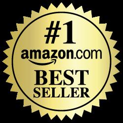 2 Inch Burst Amazon Best Seller Book Award Gold Stickers