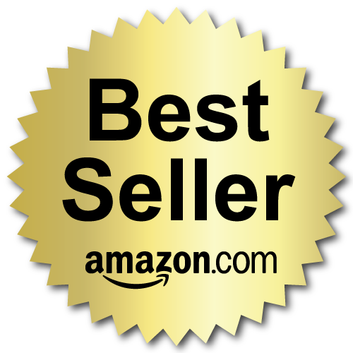 2 Inch Burst Best Seller Amazon.com Book Award Black on Gold Labels