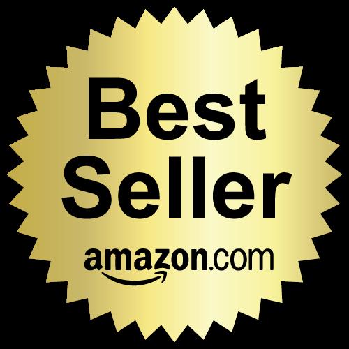 2 Inch Burst Best Seller Amazon.com Book Award Black on Gold Labels