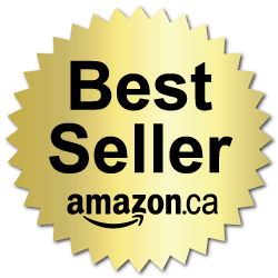 2 Inch Burst Best Seller Amazon.ca Book Award Black on Gold Labels