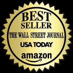 2 Inch Burst Best Seller Wall Street Journal Book Award Gold Stickers