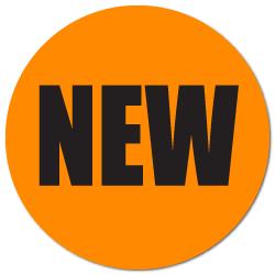 """NEW"" Fluorescent Orange Circle Labels"