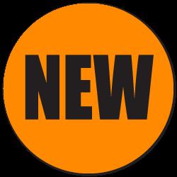 """NEW"" Fluorescent Orange Labels"