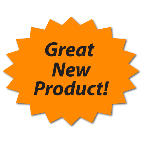 """""""Great New Product"""" Fluorescent Orange Labels"""