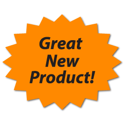 """Great New Product"" Fluorescent Orange Labels"