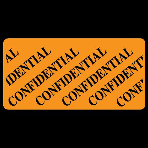 """CONFIDENTIAL"" Stickers"