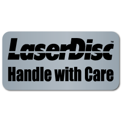 """Laser Disc Handle with Care"" Labels"