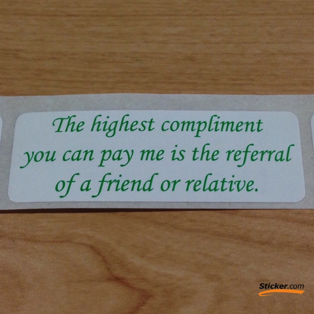 """""""Highest Compliments"""" Stickers"""