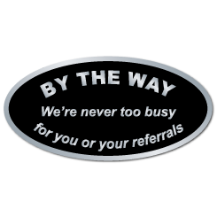 """By The Way"" Referral Stickers"