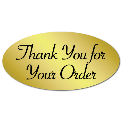 """""""Thank You for Your Order"""" Oval Stickers"""