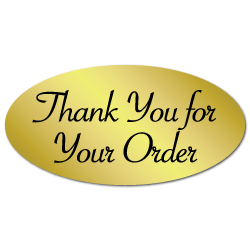 Thank+You+for+Your+Order+Oval+Gold+Foil%2C+Roll+of+100+Stickers