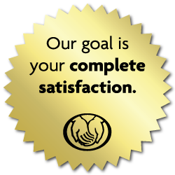 Our+Goal....Complete+Satisfaction%2C+Gold+Foil%2C+2+Inch+Circles%2C+Roll+of+100