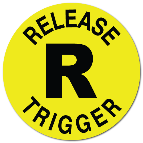 Release Trigger, Yellow Fluorescent Circle Stickers