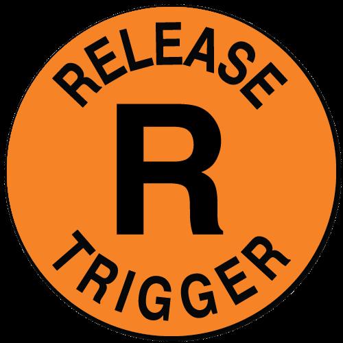 Release Trigger, Orange Fluorescent Circle Stickers