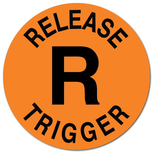 Release Trigger, Orange Fluorescent Circle Stickers