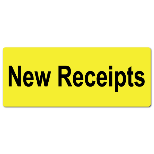 """New Receipts"" Stickers"