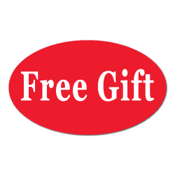 """""""Free GiftQ] Red Oval Labels"""