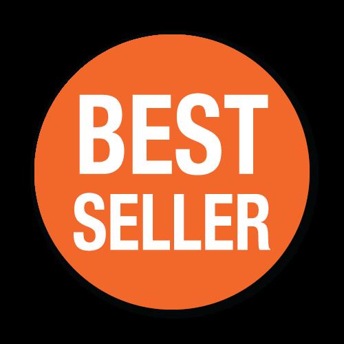 """""""Best Seller"""" Orange Stickers"""