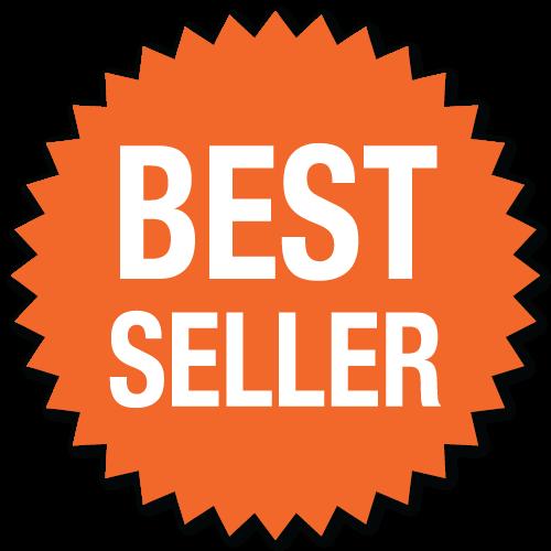 """""""Best Seller"""" Orange Burst Stickers"""