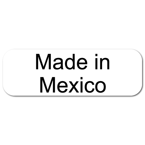 Made in Mexico Rectangle Labels
