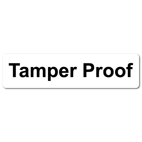 """Tamper Proof"" Destructible Labels"