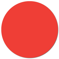 """1.5"""" Red Thermal Transfer Circle Labels"""
