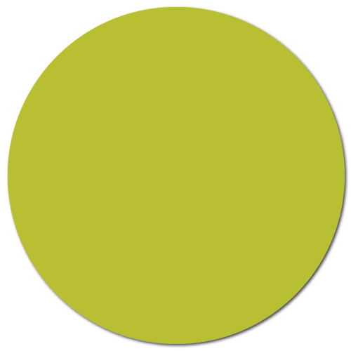 "1.5"" Chartreuse Thermal Transfer Circle Stickers"