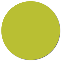 """1.5"""" Chartreuse Thermal Transfer Circle Stickers"""