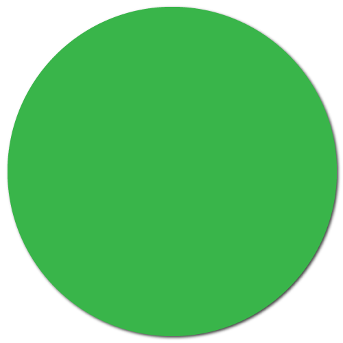 """1.5"""" Green Thermal Transfer Circle Stickers"""