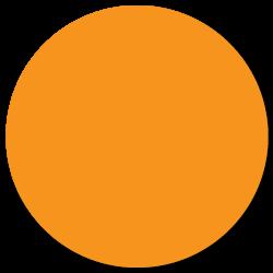 """1.5"""" Orange Thermal Transfer Circle Stickers"""