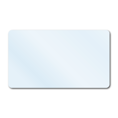 """3.5"""" x 2"""" Crystal Clear Rectangle Stickers"""