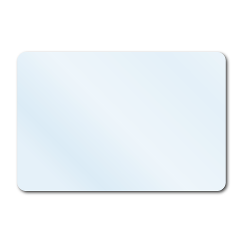 """3"""" x 2"""" Crystal Clear Rectangle Stickers"""