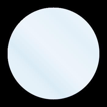 """0.75"""" Crystal Clear Circle Seals"""