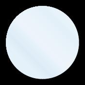 """1.5"""" Crystal Clear Circle Seals"""