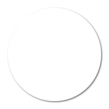 """2"""" White Paper Circle Stickers"""