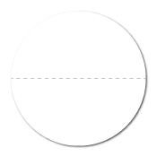 """1"""" White Paper Circle Stickers with Perforations"""