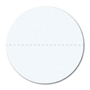 """1"""" Translucent Paper Circle Stickers with Perforations"""