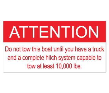 PN 55720 Attention Tow Warning Labels
