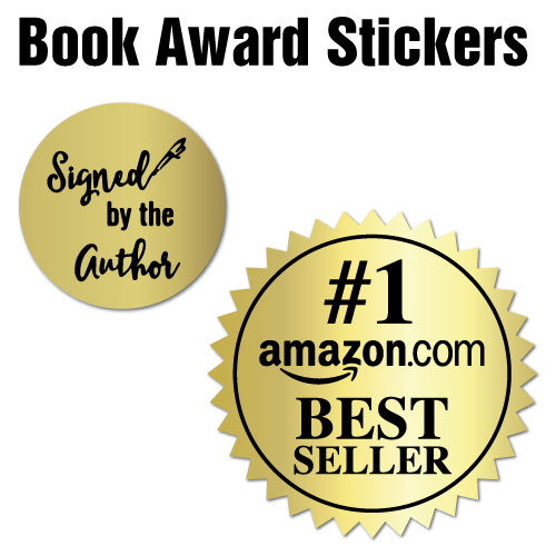 Book Award Stickers for Authors and Publishers Stickers