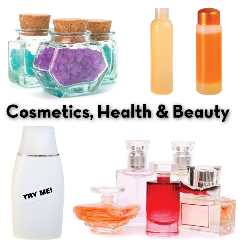 Cosmetics, Health & Beauty Labels