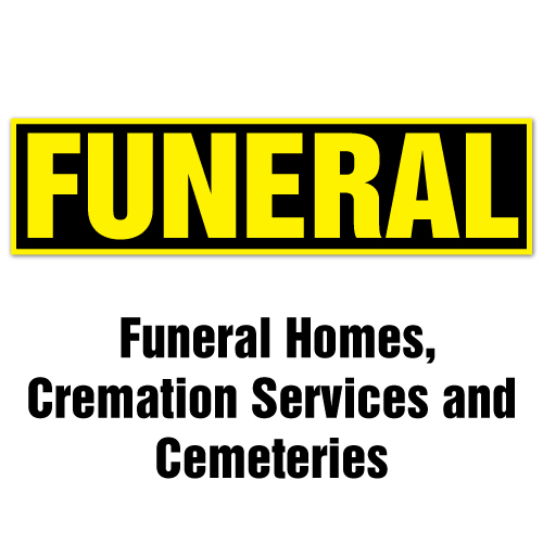 Stickers for Funeral Homes, Cremation Services and Cemeteries