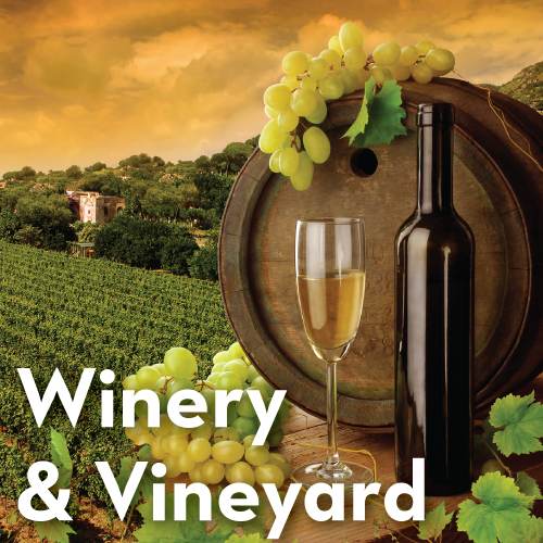 Winery and Vineyard Stickers