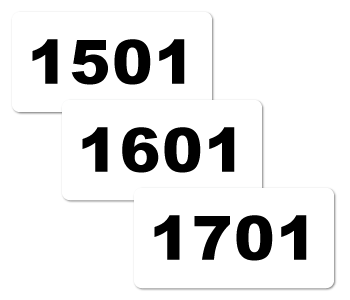 Consecutive Numbered Stickers