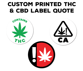 Start a quote for a Custom Printed THC, CBD, Cannabis Label