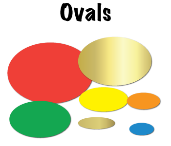 Blank Oval Stickers