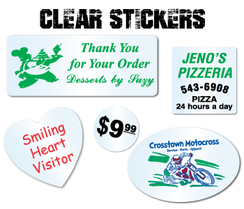 Custom Printed Clear Stickers