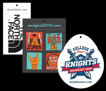 Custom Printed Clothing Hang Tag Stickers